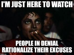 Thriller - I'm just here to watch people in denial rationalize their excuses