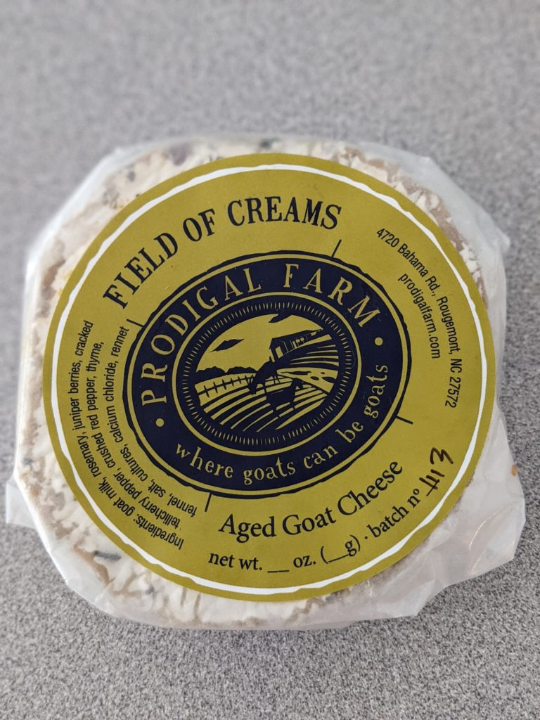 """""""Field of Creams"""" Goat Cheese from Prodigal Farm"""